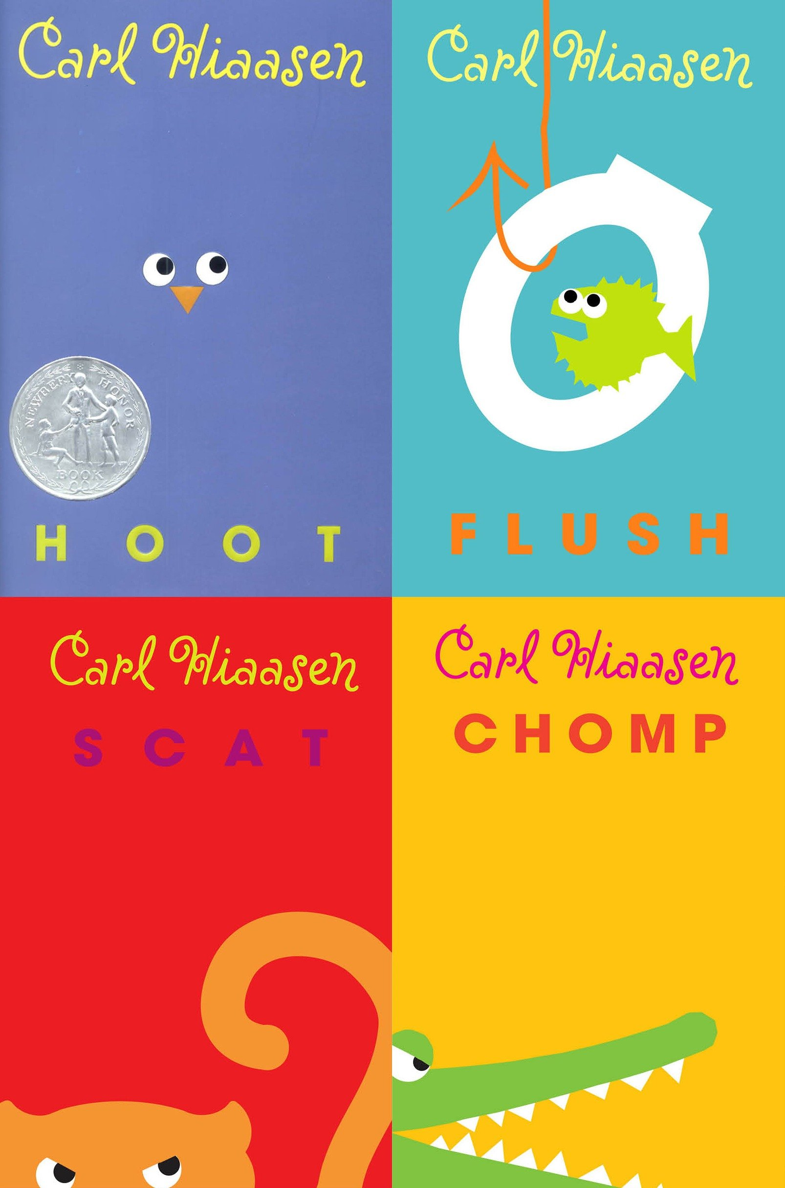 Carl Hiaasen collection: Hoot, Flush, Scat, Chomp cover image