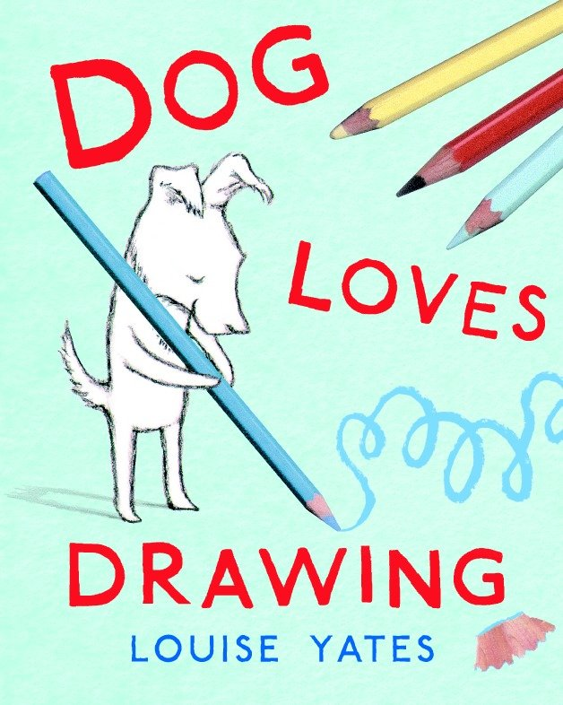 Dog loves drawing cover image