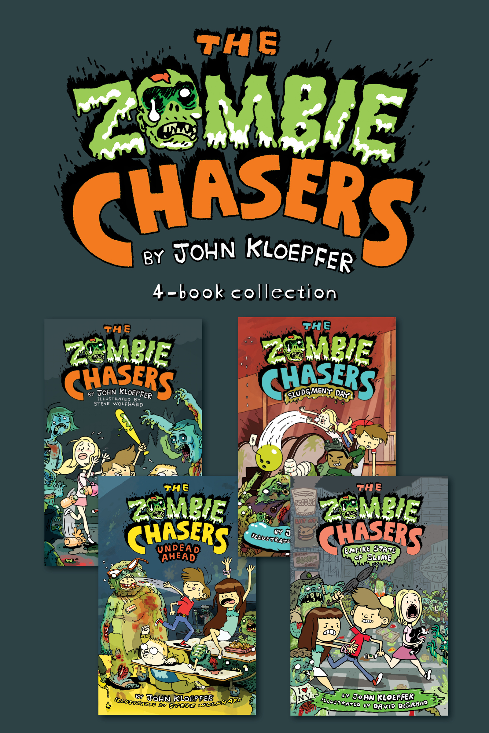 Zombie chasers 4-Book Collection The zombie chasers, undead a head, sludgment day, empire state of slime cover image