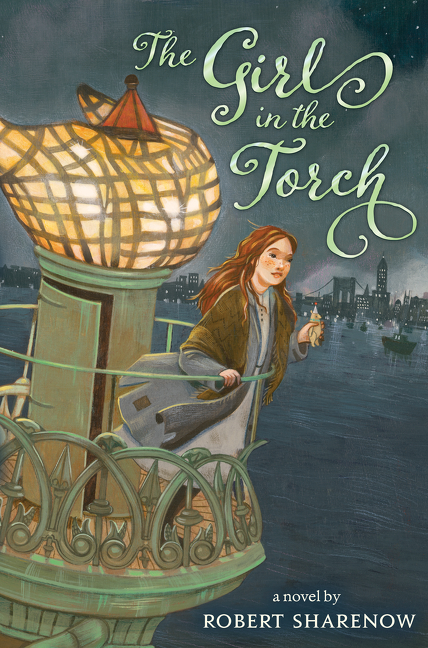 The girl in the torch cover image