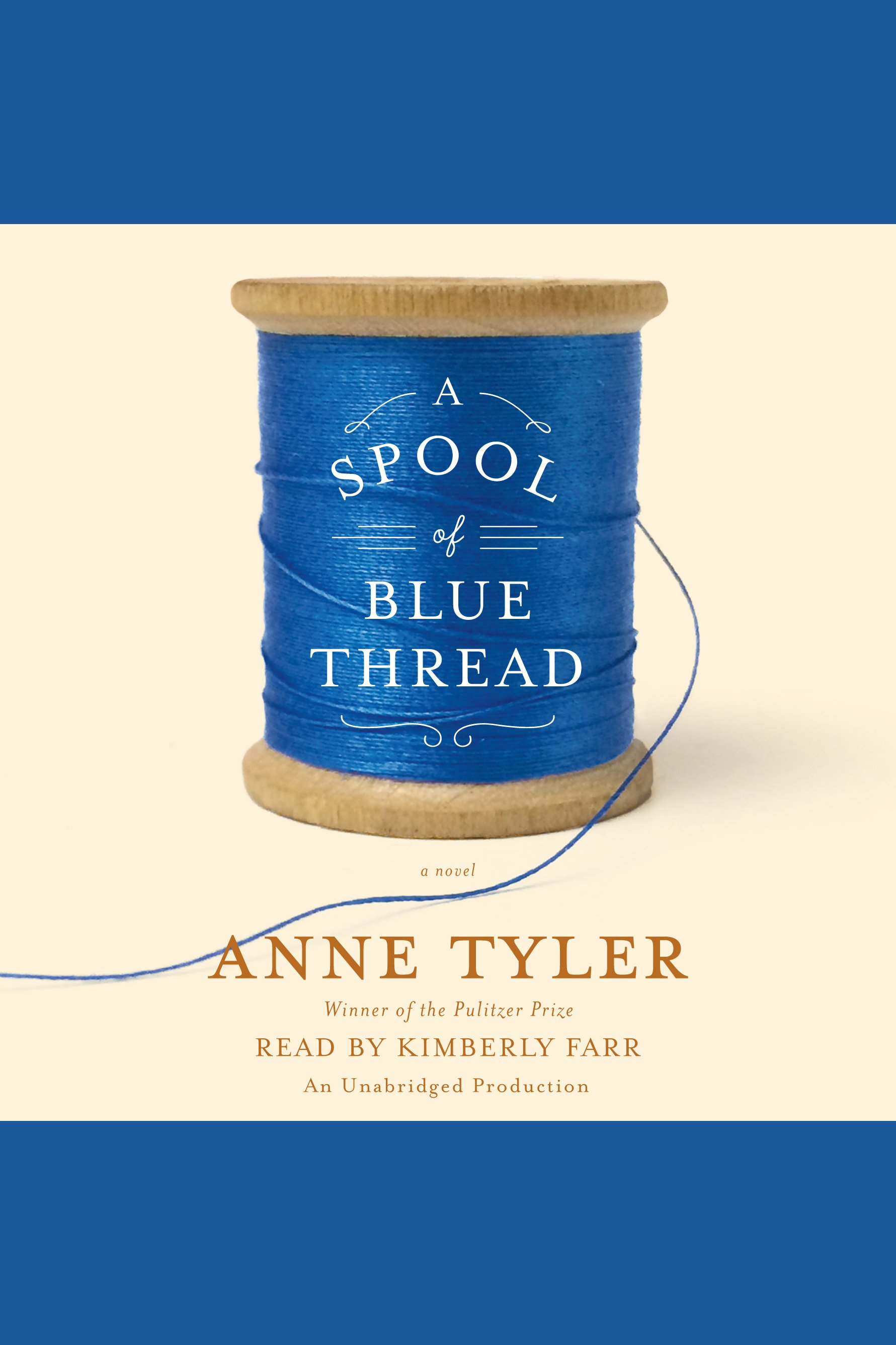 A spool of blue thread cover image