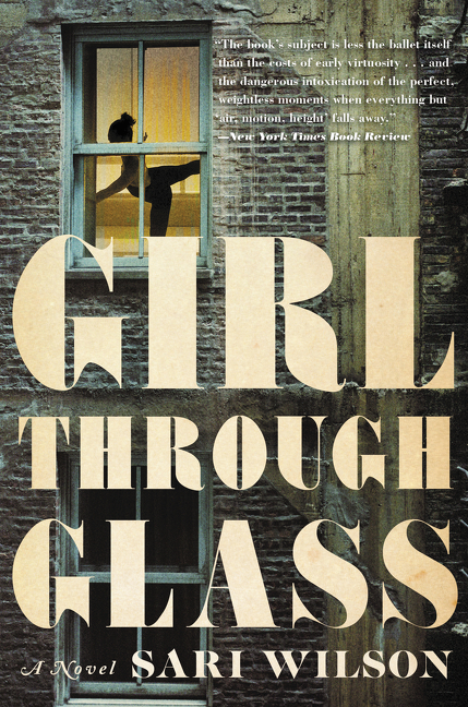 Girl through glass cover image
